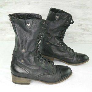 Steve Madden Parto Combat Boots Sz 9.5 Black